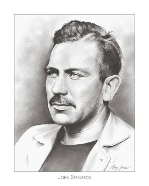Fruit Drawing - John Steinbeck by Greg Joens