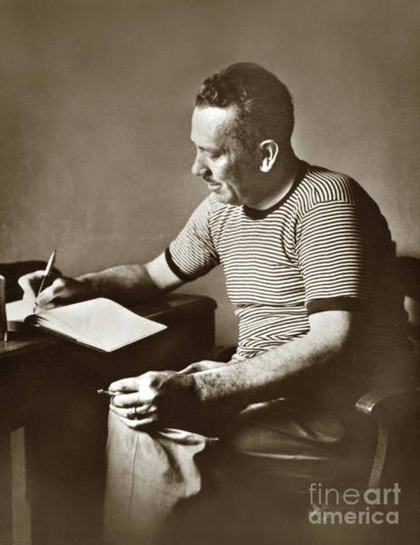 Photograph - John Steinbeck  In Russia. 1947 by California Views Archives Mr Pat Hathaway Archives
