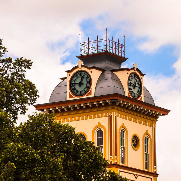 Photograph - John W. Hargis Hall Clock Tower by Ed Gleichman