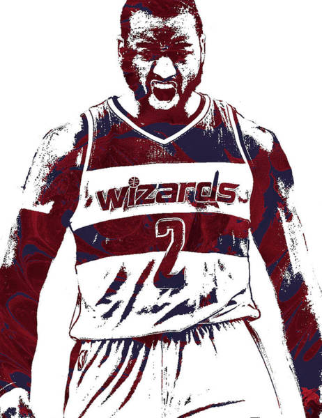 Galaxies Mixed Media - John Wall Washington Wizards Pixel Art 5 by Joe Hamilton