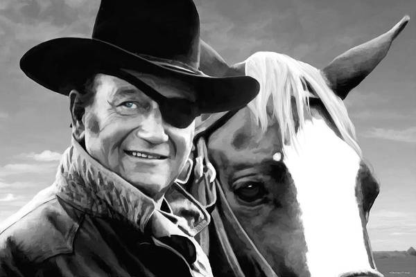 Mixed Media - John Wayne @ True Grit #1 by Gabriel T Toro