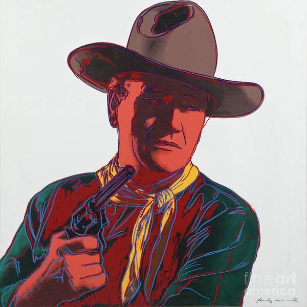 Wall Art - Mixed Media - John Wayne, The Duke, Andy Warhol, Signed by Thomas Pollart