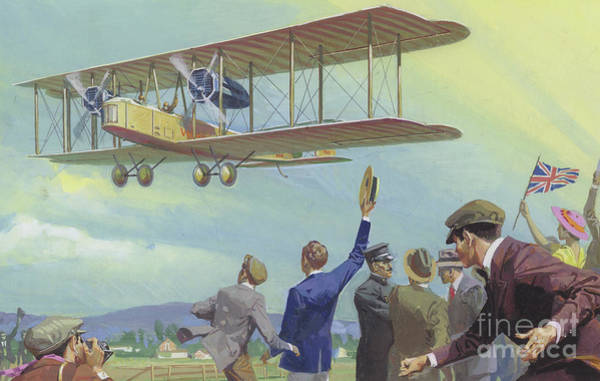 Flying The Flag Wall Art - Painting - John William Alcock And Arthur Whitten Brown Who Flew Across The Atlantic by Severino Baraldi