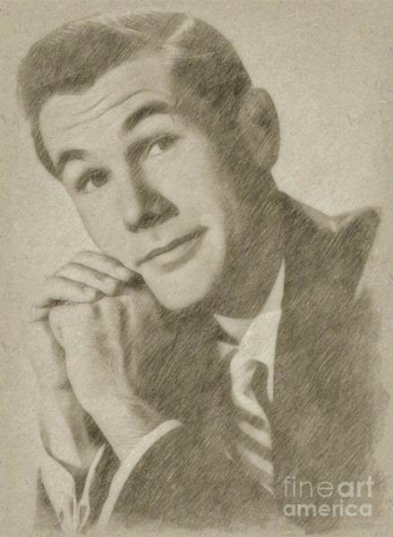Wizard Drawing - Johnny Carson, Entertainer by Frank Falcon