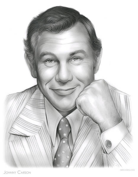 Actor Drawing - Johnny Carson by Greg Joens