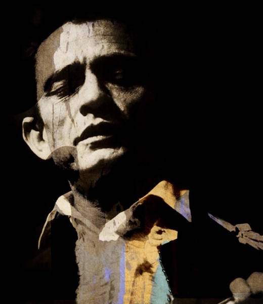 Landmarks Digital Art - Johnny Cash - I Walk The Line  by Paul Lovering