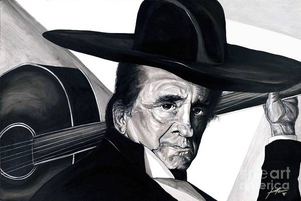 Johnny Cash Painting - Johnny Cash by Keith  Thurman