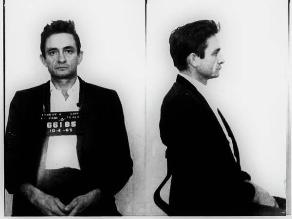 Painting - Johnny Cash Mug Shot Music Lover Fan Mugshot by Tony Rubino