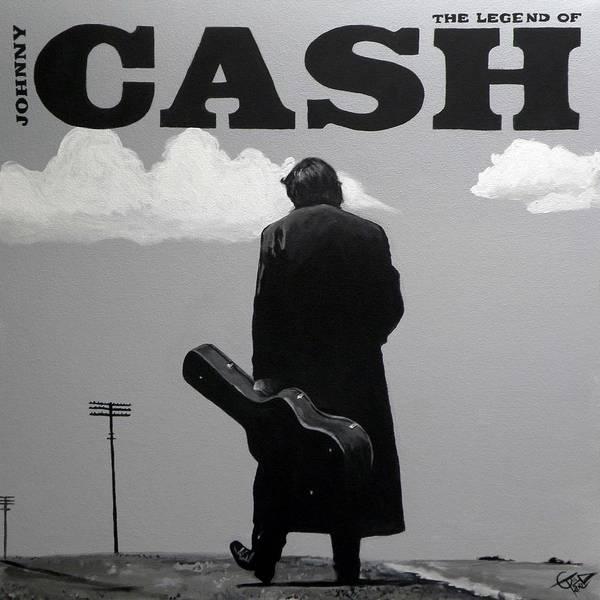 Johnny Cash Painting - Johnny Cash by Tom Carlton