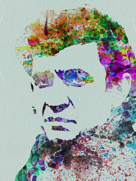 Cash Wall Art - Painting - Johnny Cash Watercolor 2 by Naxart Studio