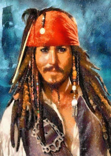 Digital Art - Johnny Depp As Jack Sparrow by Charmaine Zoe