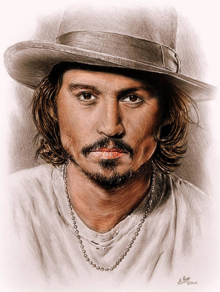 Johnny Depp Painting - Johnny Depp Colour Edit by Andrew Read
