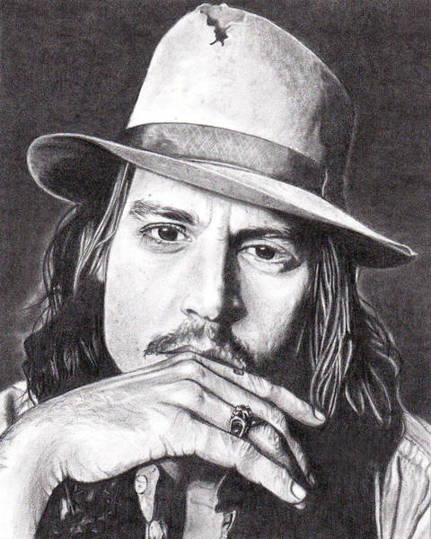 Drawing - Johnny Depp by Daniel Carvalho