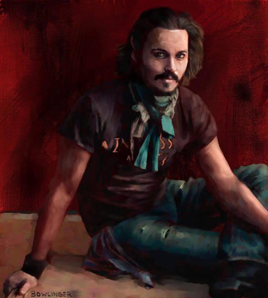 Pirates Of The Caribbean Digital Art - Johnny Depp by Scott Bowlinger