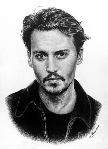 Johnny Depp Painting - Johnny Depp Version 2 by Andrew Read