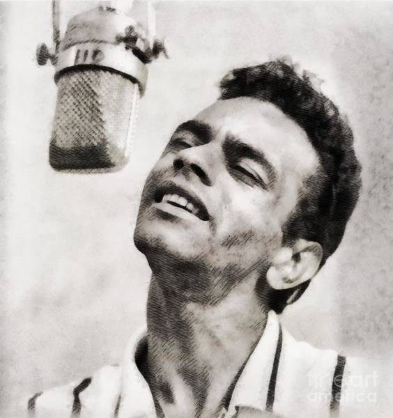 Wall Art - Painting - Johnny Mathis, Music Legend By John Springfield by John Springfield