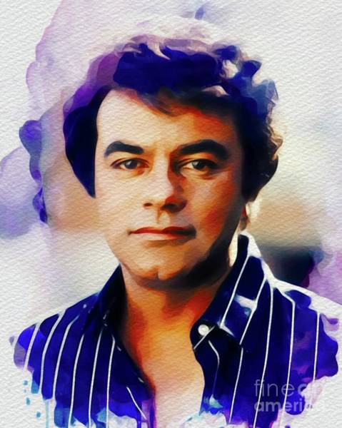 John Singer Painting - Johnny Mathis, Music Legend by John Springfield