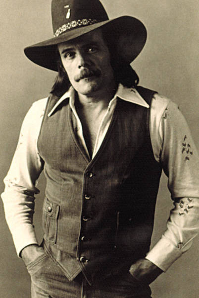 Gus Photograph - Johnny Paycheck, C. 1970s by Everett