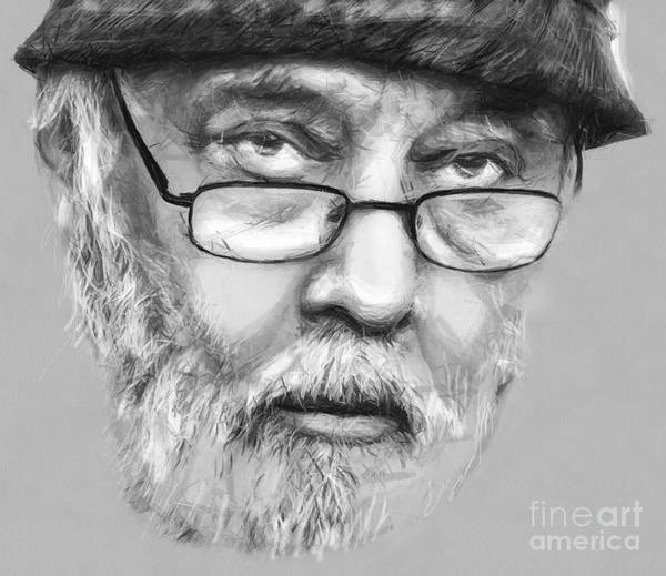 Drawing - Johnny Raducanu Mr Jazz Of Romania by Daliana Pacuraru