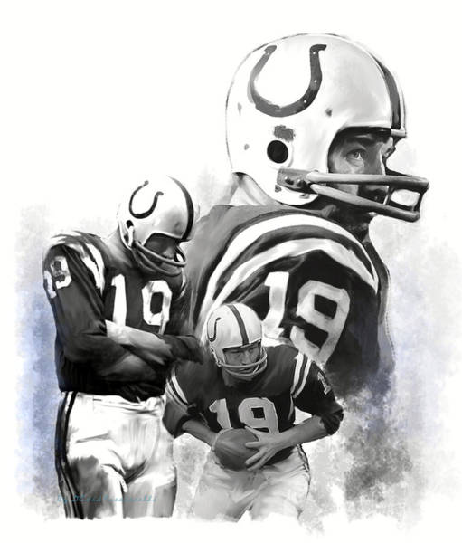Painting - Johnny Unitas  Unitas by Iconic Images Art Gallery David Pucciarelli