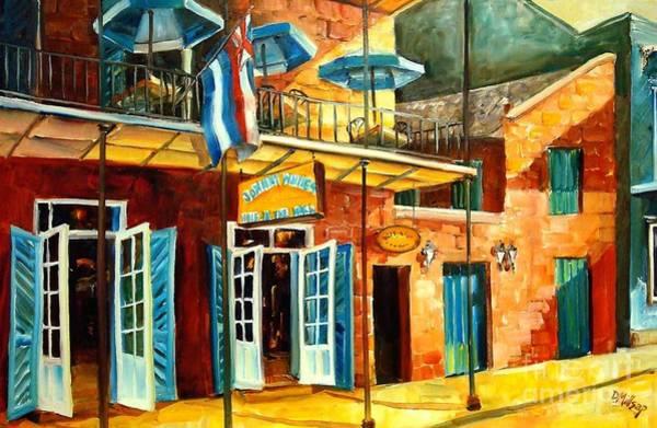 Neighborhood Painting - Johnny White's On Bourbon Street by Diane Millsap