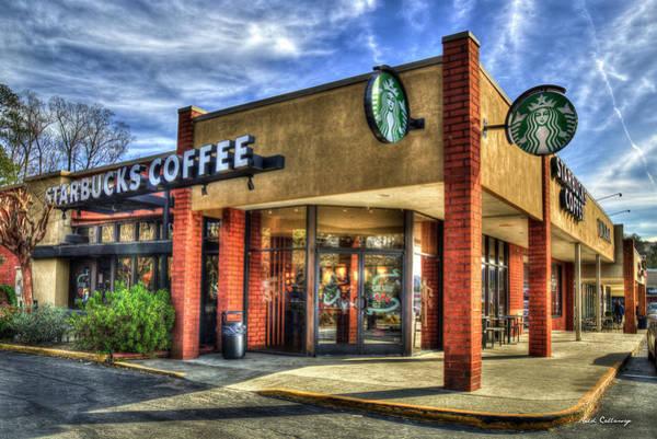 Wall Art - Photograph - John's Office Starbucks Coffee Buckhead  Atlanta Georgia Art by Reid Callaway