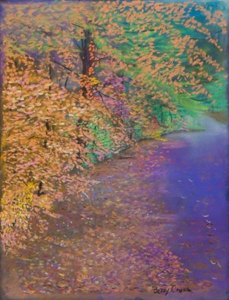 Pastel - John's Pond In The Fall by Betsy Carlson Cross