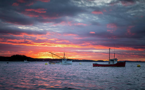 Photograph - Johnson Bay, Maine Sunset by Colin Chase