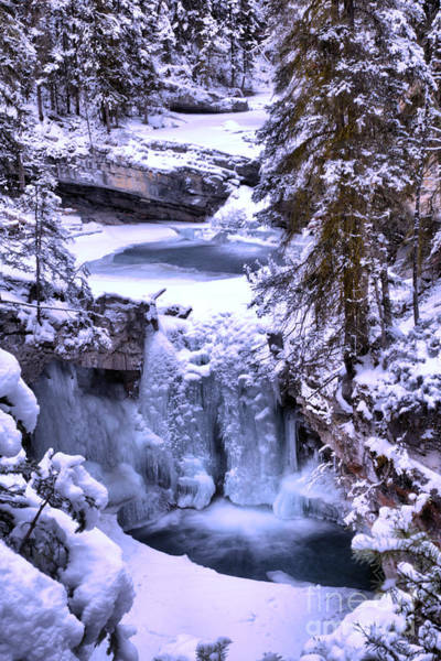 Photograph - Johnson Canyon Frozen Falls by Adam Jewell