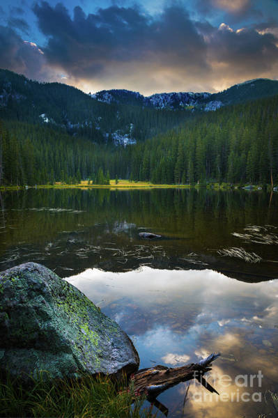 Photograph - Johnson Lake Twilight by Inge Johnsson