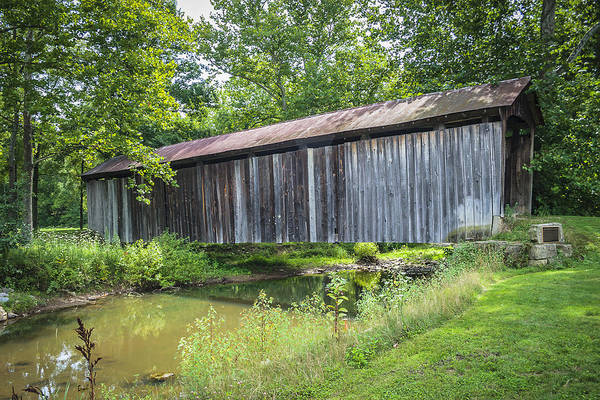 Photograph - Johnson's Mill/salt Creek Covered Bridge  by Jack R Perry
