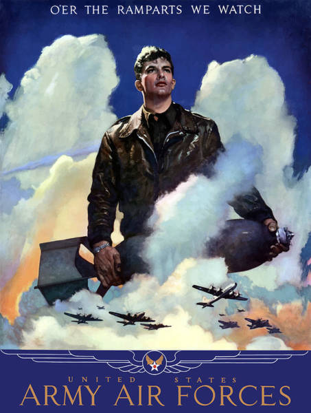 Air War Painting - Join The Army Air Forces by War Is Hell Store