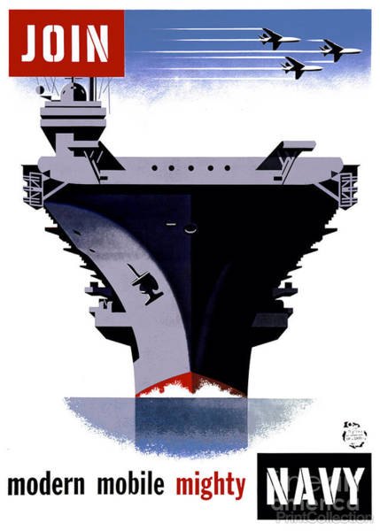 Painting - Join The Navy Poster by Celestial Images