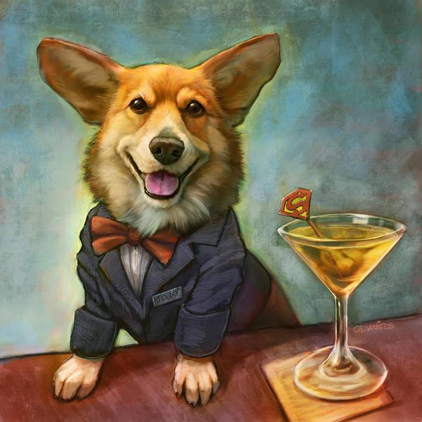 Martini Painting - Jojo's Supertini by Sean ODaniels