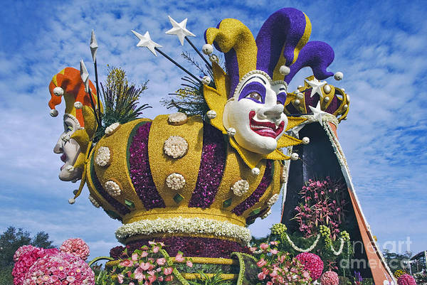 Tournament Of Roses Photograph - Jokers Smiling Faces by David Zanzinger