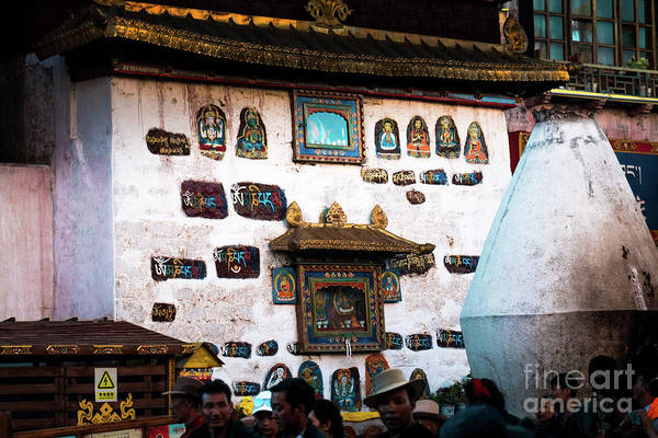 Photograph - Jokhang Temple Wall Lhasa Tibet Artmif.lv by Raimond Klavins