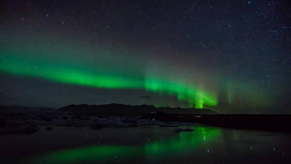 Photograph - Jokulsarlon Aurora by James Billings