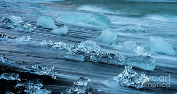 Wall Art - Photograph - Jokulsarlon Glacial Ice On The Beach by Mike Reid