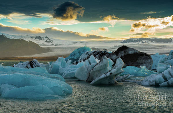 Wall Art - Photograph - Jokulsarlon Ice Lagoon Landscape Of Ice  by Mike Reid