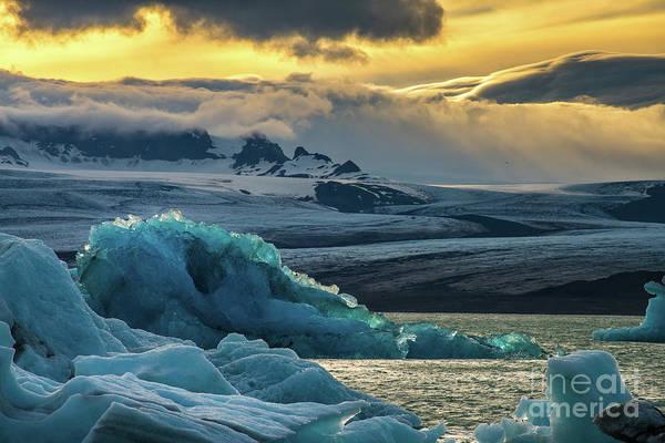 Wall Art - Photograph - Jokulsarlon Iceland Glacial Ice Lagoon Splendor by Mike Reid