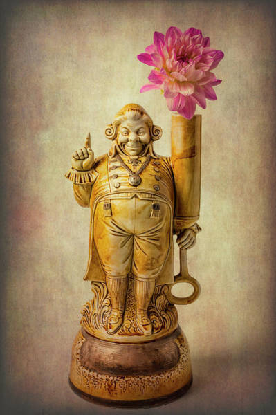 Wall Art - Photograph - Jolly Fellow With Dahlia Flower by Garry Gay