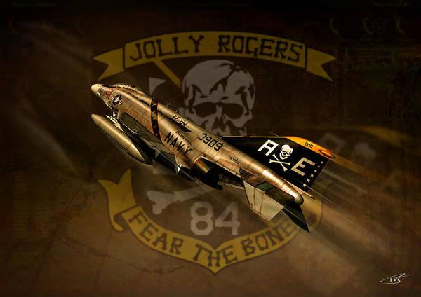 Cockpit Digital Art - Jolly Rogers Phantom Two by Peter Van Stigt