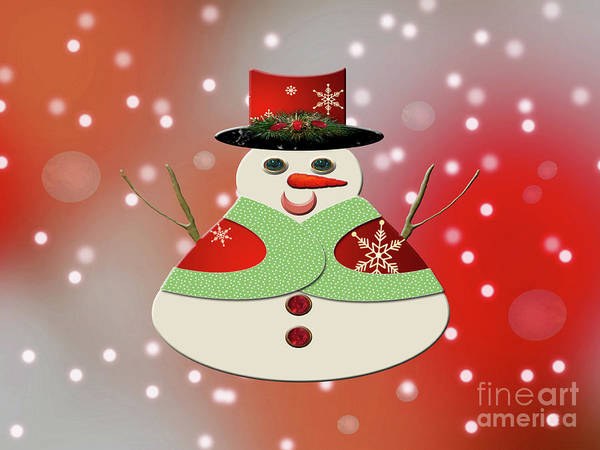 Photograph - Jolly Snowman Snowy Dreams by Rockin Docks Deluxephotos