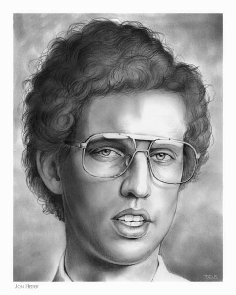 Actor Drawing - Jon Heder by Greg Joens