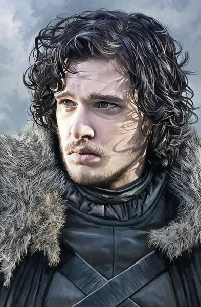 Wall Art - Painting - Jon Snow - Kit Harington Game Of Thrones Artwork  by Sheraz A