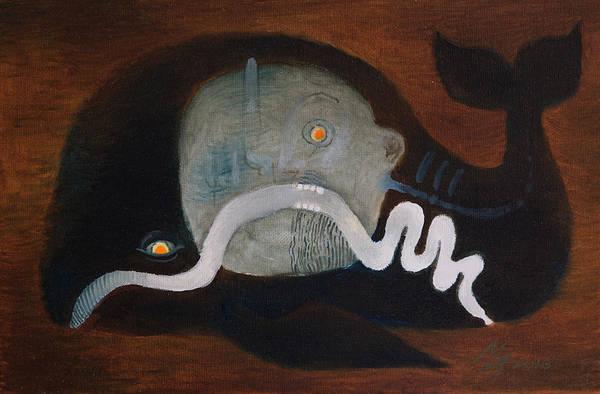 Painting - Jonah by Attila Meszlenyi