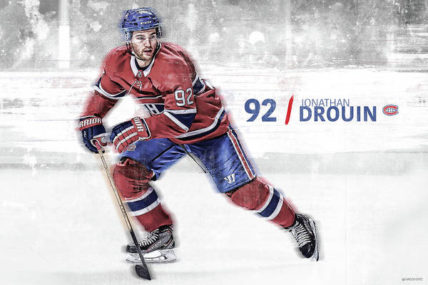 Montreal Canadiens Digital Art - Jonathan Drouin by Nicholas Legault