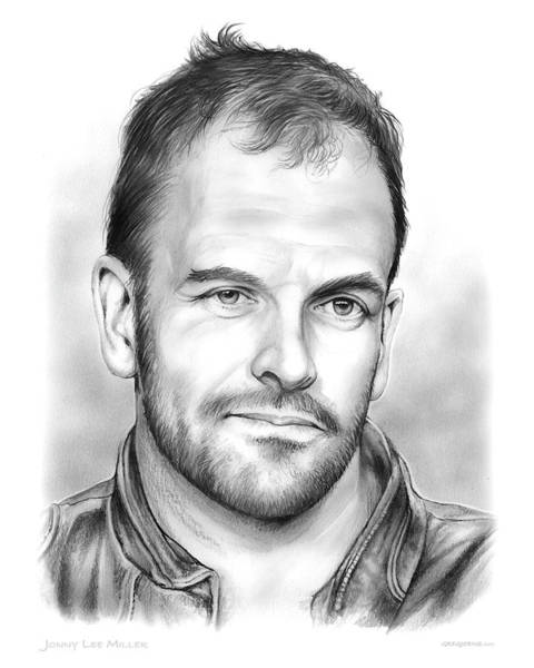 Shadows Drawing - Jonny Lee Miller by Greg Joens