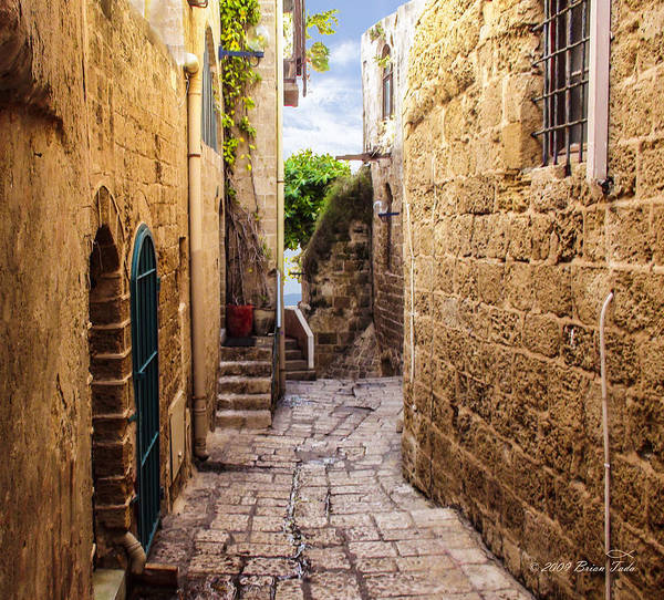 Holy Land Photograph - Joppa Israel Passageway by Brian Tada