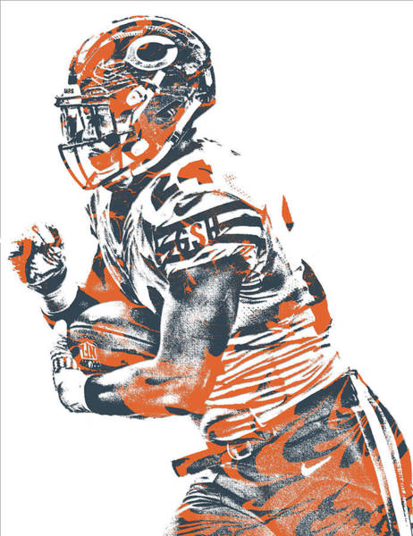 Wall Art - Mixed Media - Jordan Howard Chicago Bears Pixel Art 6 by Joe Hamilton